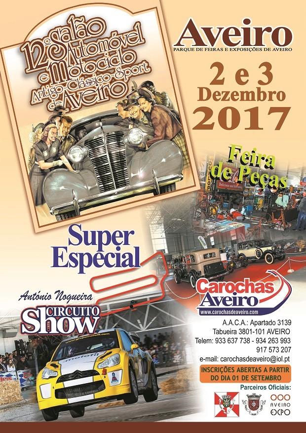 12º Salão Automóvel e Motociclo Antigo-Clássico-Sport de Aveiro - 2 e 3 Dez.2017 Cartaz10