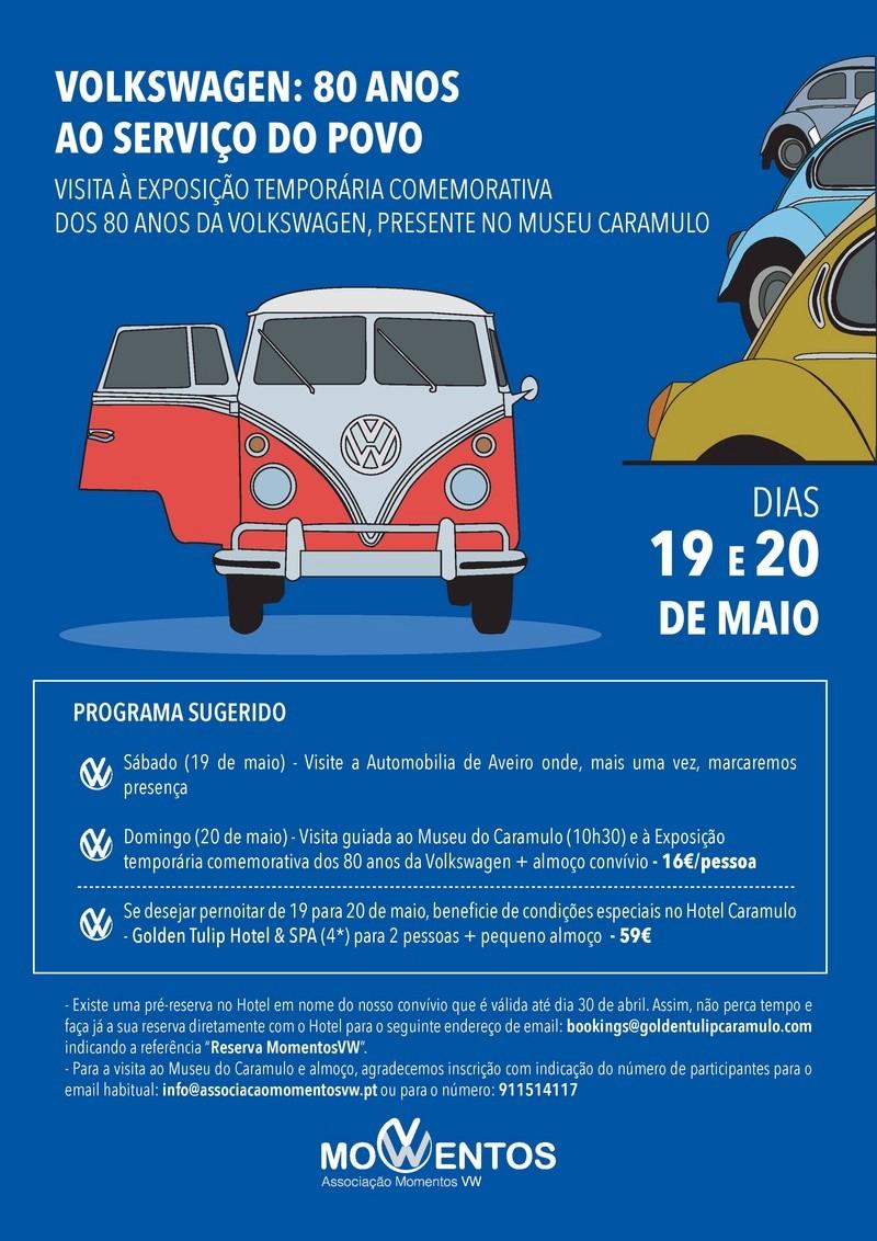Visita Museu do Caramulo - Volkswagen - 80 Anos ao Serviço do Povo - Maio 2018 Cartaz11