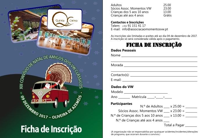 13º Convívio de Natal de Amigos dos VW Clássicos - 09 Dez. 2017 - Oliveira de Azeméis Ficha-11