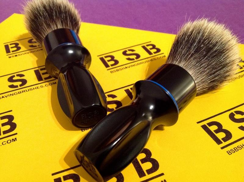 BSB Shaving Brushes - Brosses de rasage en aluminium brillant BSB-1 et BSB-2 disponibles Image13