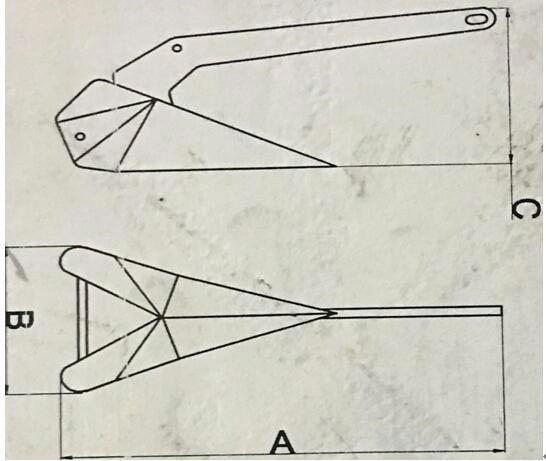 dimension ancre 250x2110