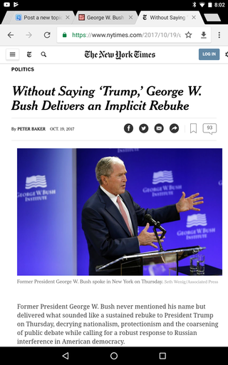 George W. Bush attacks Trumpism Screen18
