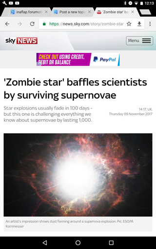 'Zombie star' baffles scientists by surviving supernovae Screen27