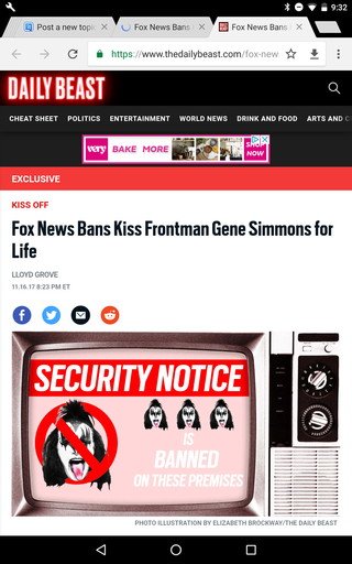 Fox News Bans Kiss Frontman Gene Simmons for Life Screen30