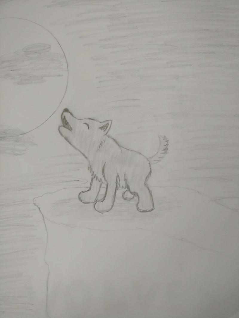 Meine Bemühungen zum Malen/Zeichnen :D Wolf_b11