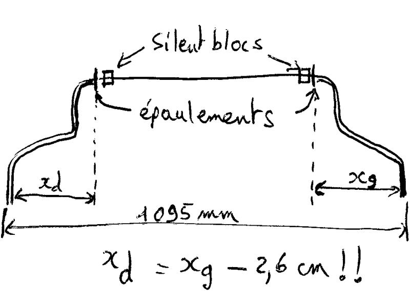remplacement silent-bloc de barre stabilisatrice vito II/viano 2.2L Barret11