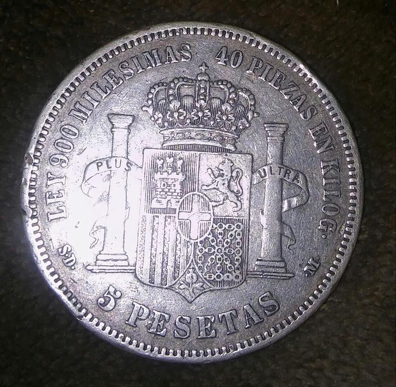 Moneda 5 psts Amadeo I 20180125