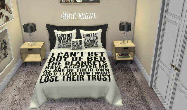 I can´t get out of Bed...Santorini Pillows+Bed Blanket Recolors 110