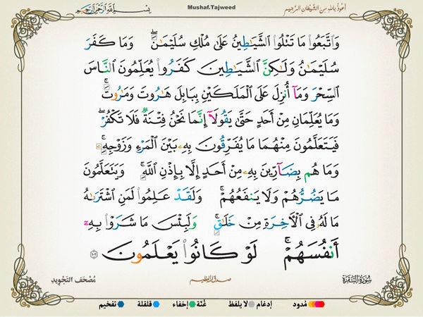 الآية 102 من سورة البقرة الكريمة المباركة Oa_10210