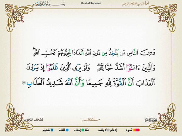 الآية 165 من سورة البقرة الكريمة المباركة Oa_16510