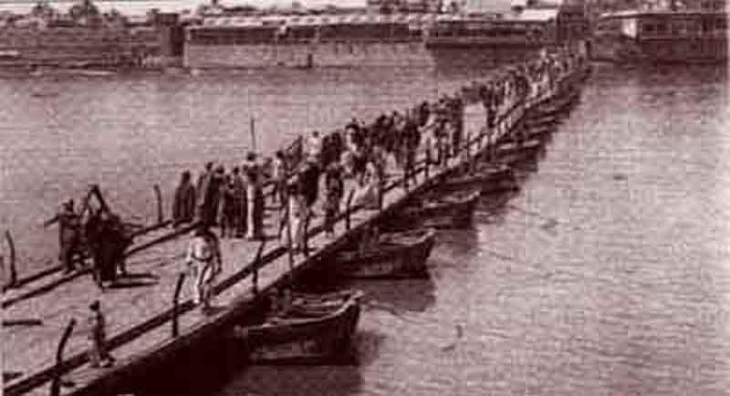 أحدى الجسور التي كانت تتوسط نهر دجله عام 1920م Y_ou_o10