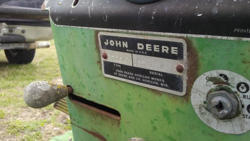 $25 1968 John Deere 110 Pre-Build 20180312