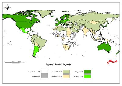 خريطة مؤشرات التنمية البشرية O-oooa11