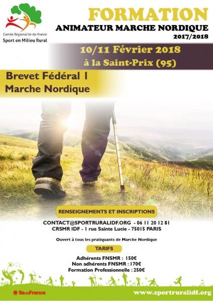 formation - Formation Animateur Marche Nordique 10/11 Fevrier 2018 - St Prix Val d'oise Affich10