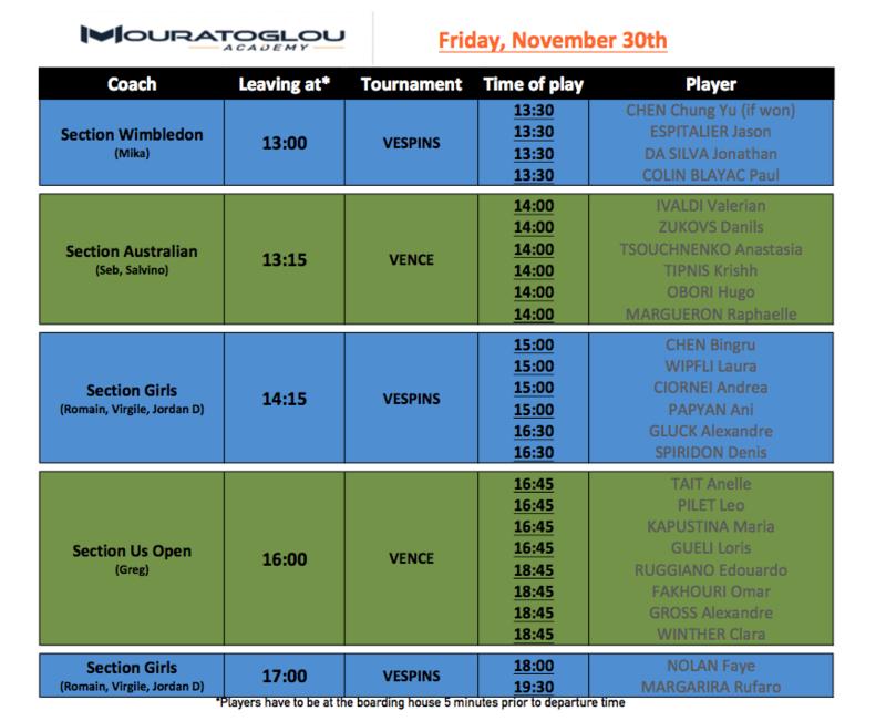 Friday, November 30th Screen11