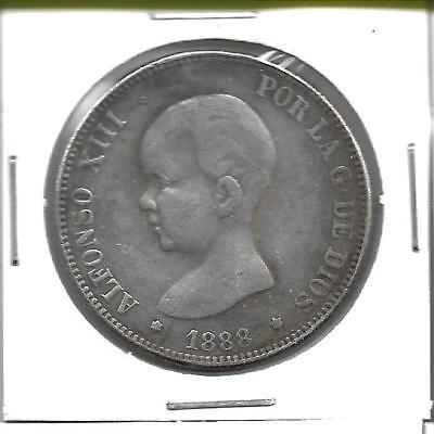 5 pesetas 1888 MSM S-l40010