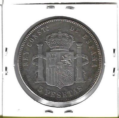 5 pesetas 1888 MSM S-l40011