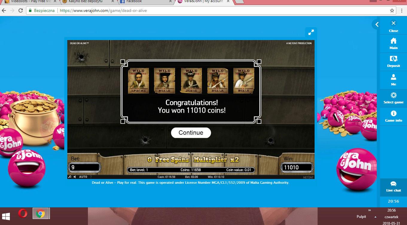 Screenshoty naszych wygranych (minimum 200zł - 50 euro) - kasyno - Page 8 Vera110