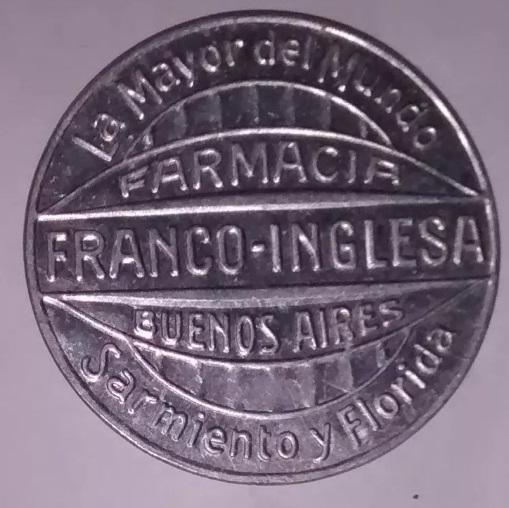 Ficha De Cambio De La Farmacia Franco Inglesa (Argentina) Franco10