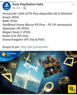 Tutte le informazioni e le uscite del Playstation PLUS Dd726710