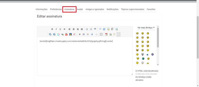 Como editar o seu Perfil Perfil11
