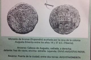 Denario de Augusto de Emerita. P CARISIVS LEG PRO PR  Fullsi10