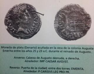 Denario de Augusto de Emerita. P CARISIVS LEG PRO PR  Fullsi11