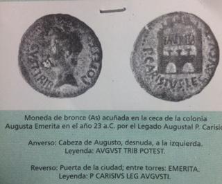 Denario de Augusto de Emerita. P CARISIVS LEG PRO PR  Fullsi13
