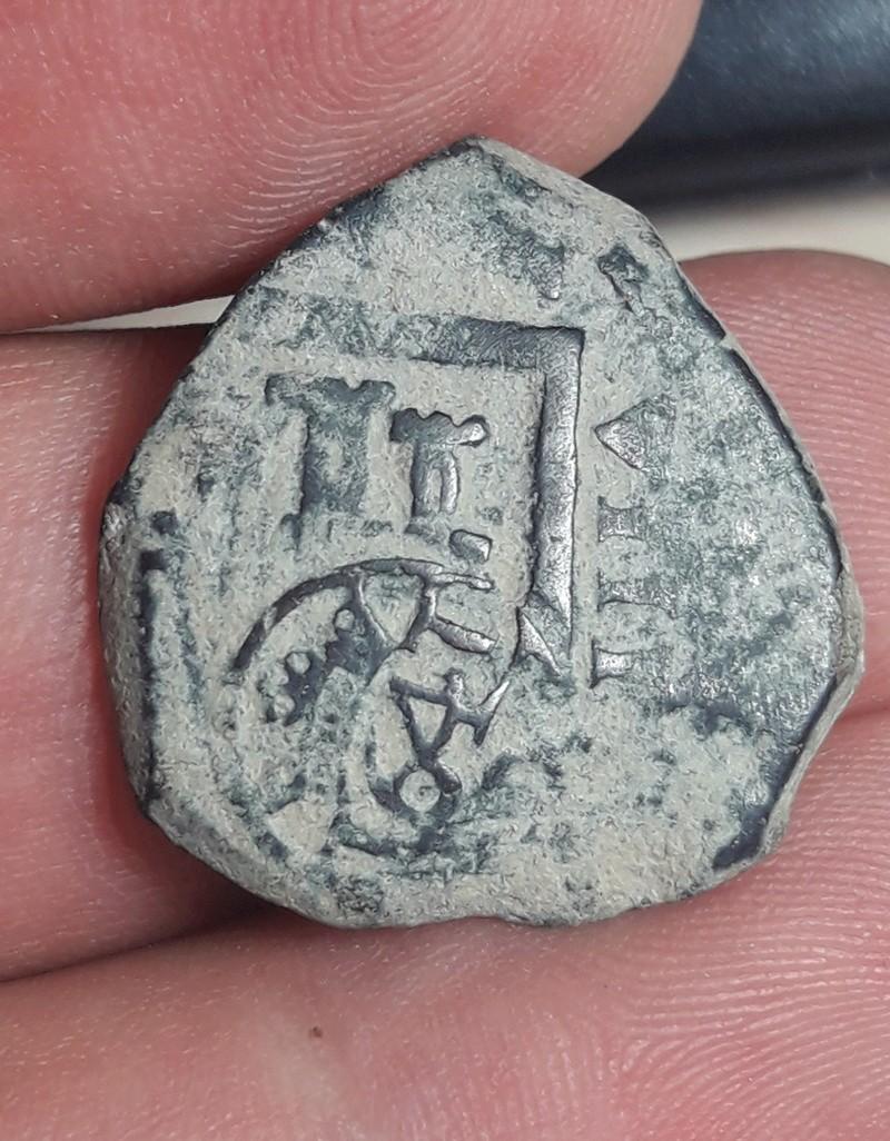 VIII maravedís de Felipe III o IV, acuñados a martillo, y resellados a VIII en 1641. 20171221