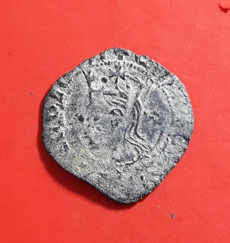 Cruzado de Enrique II. Flor detrás del busto 20180342
