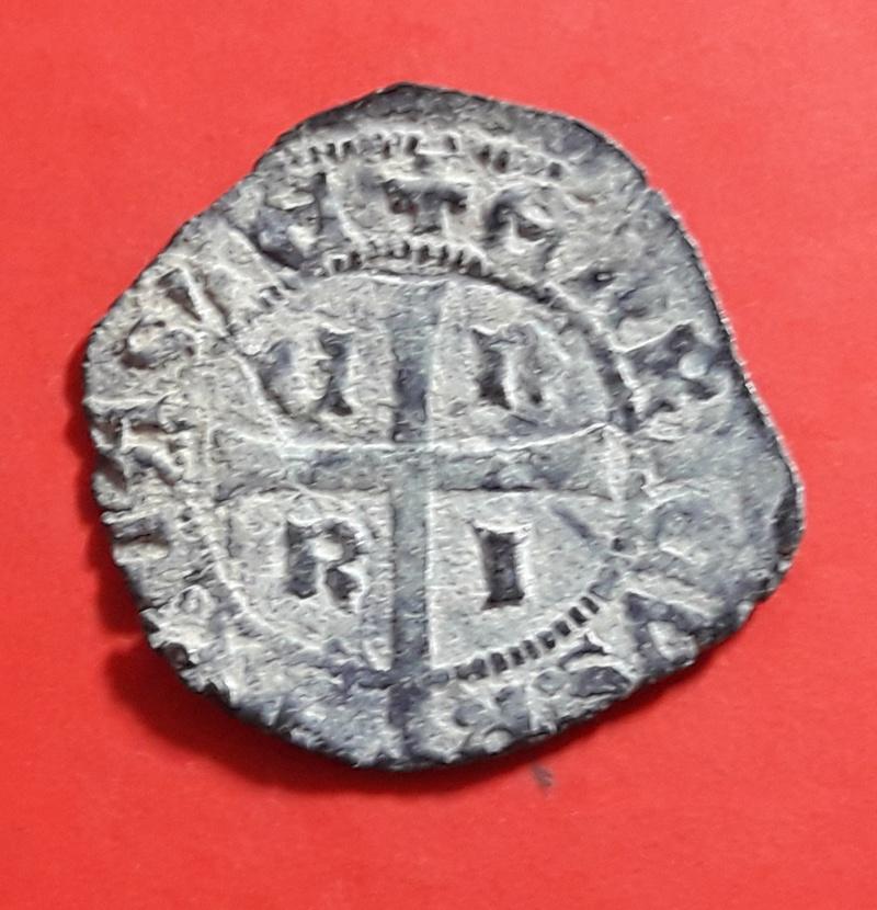 Cruzado de Enrique II. Flor detrás del busto 20180343