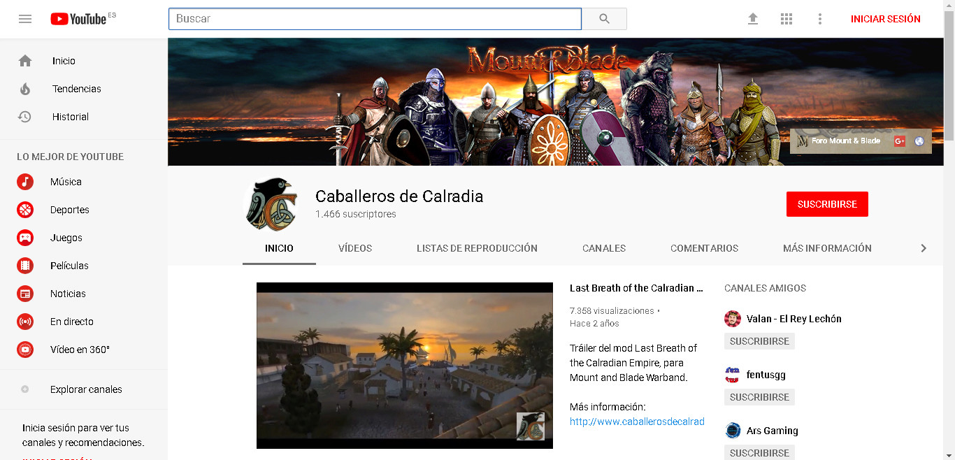 Caballeros de Calradia Canal de Youtube - Página 2 Captur11
