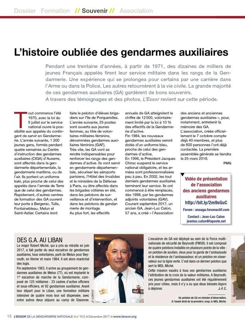 ESSOR de la Gendarmerie N°512 Décembre 2017 P1810