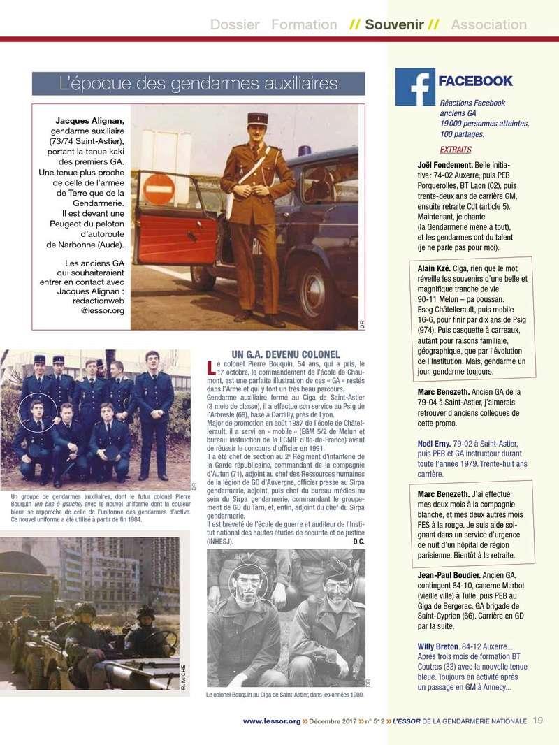 ESSOR de la Gendarmerie N°512 Décembre 2017 P1910
