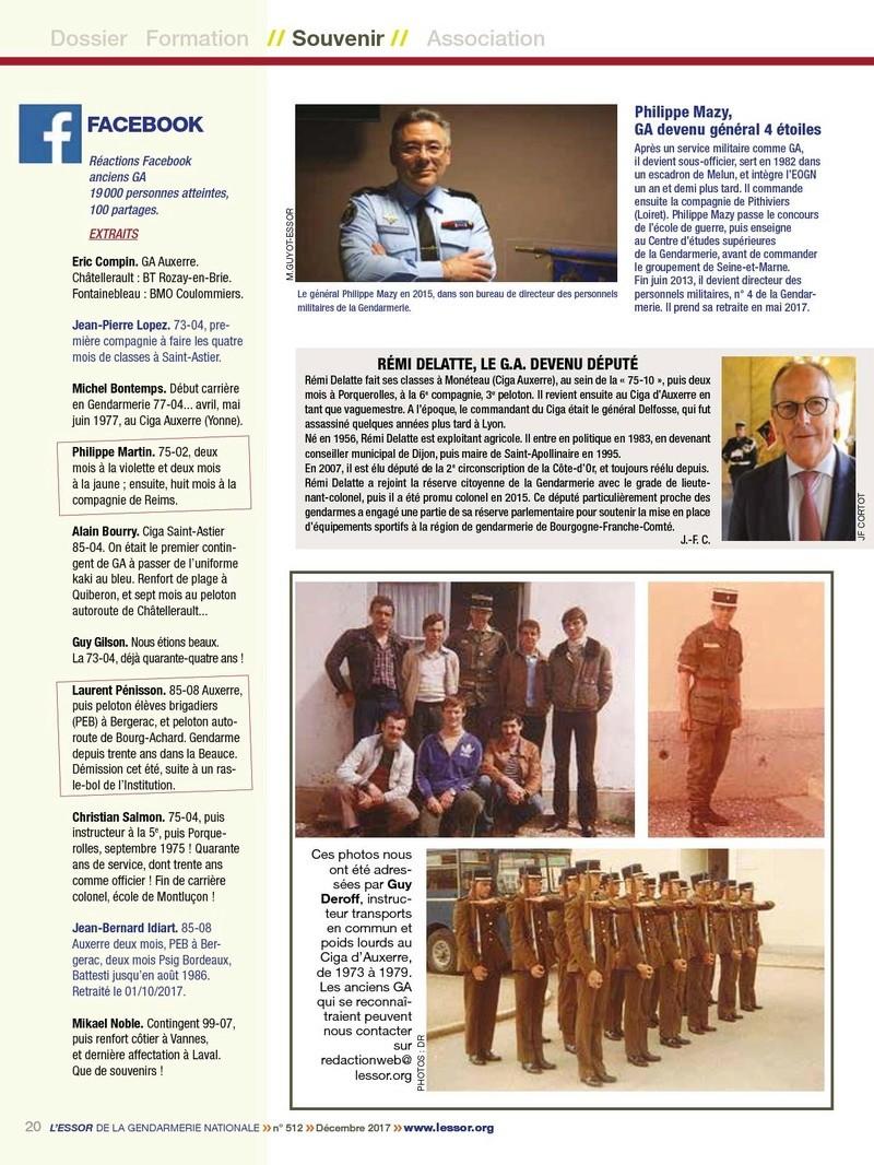 ESSOR de la Gendarmerie N°512 Décembre 2017 P2010