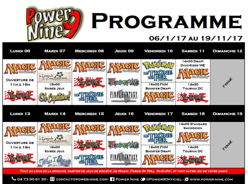 Programme des events du 06/11/17 AU 19/11/17 P9_pla11