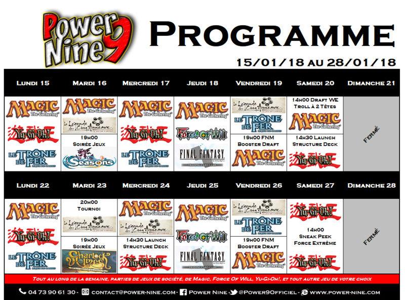 Programme des events du 15/01/18 au 28/01/18 P9_pla18