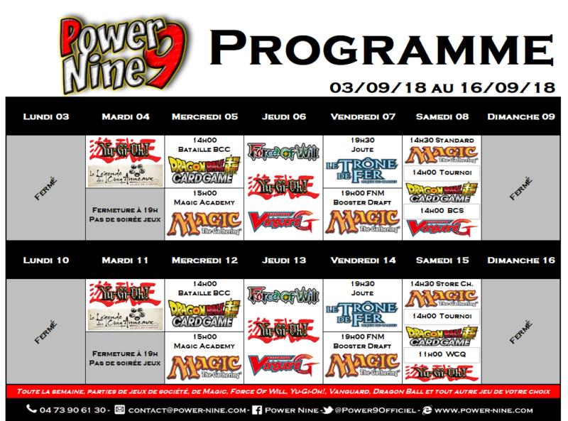 Programme des events du 03/09/18 au 16/09/18 P9_pla18
