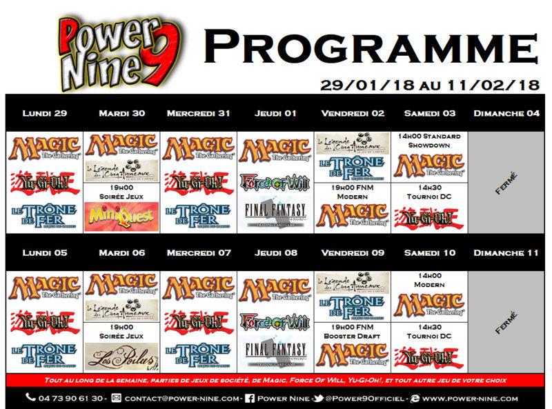 Programme des events du 29/01/18 au 11/02/18 P9_pla19