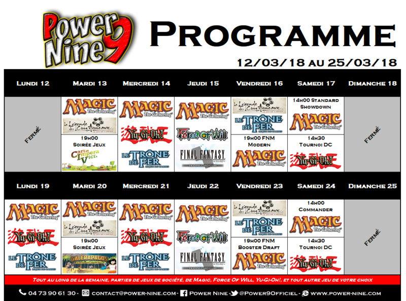 Programme des events du 12/03/18 au 25/03/18 P9_pla23