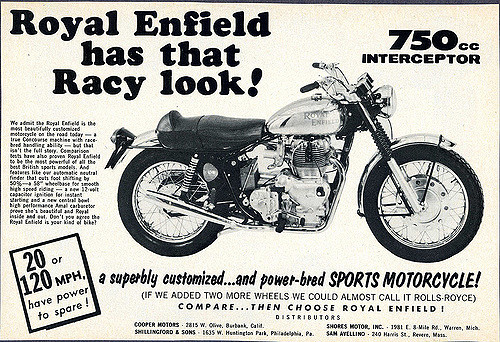 Royal Enfield bicylindre .... Royint10