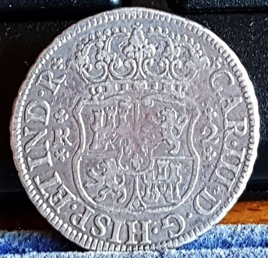 2 Reales (columnario). Carlos  III. México. 1769 1111b10