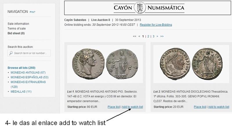 Cómo vigilar una moneda usando Sixbid dedicado a mreyna 410
