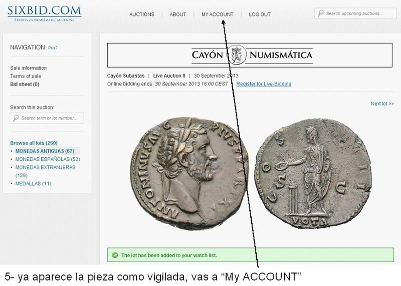 Cómo vigilar una moneda usando Sixbid dedicado a mreyna 510