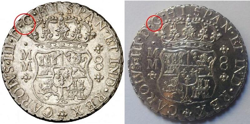 Columnarios de Carlos III - auténtico vs falso Clipbo12