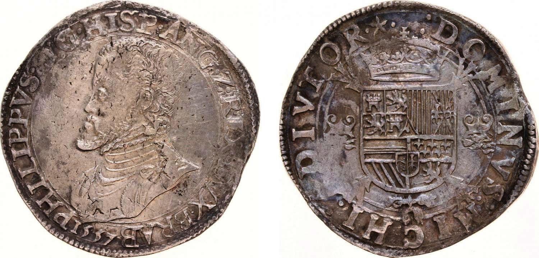 Escudo de Felipe II, Maastricht, 1557. Ducato10