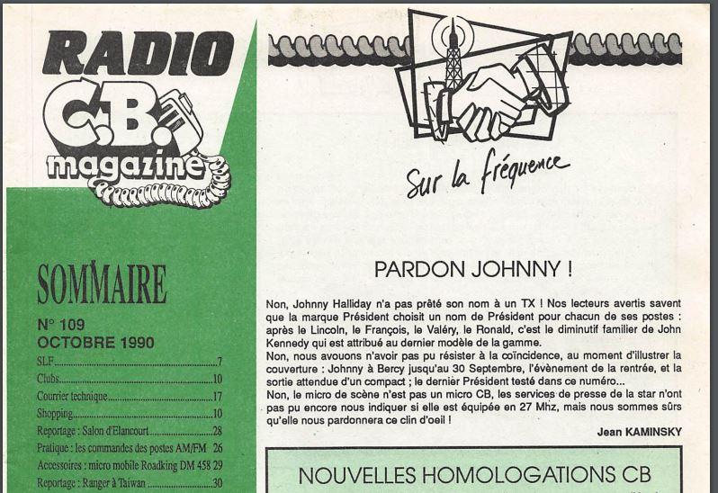 C.B. Magazine - Radio C.B. Magazine (Magazine (Fr.) - Page 6 Johnny10