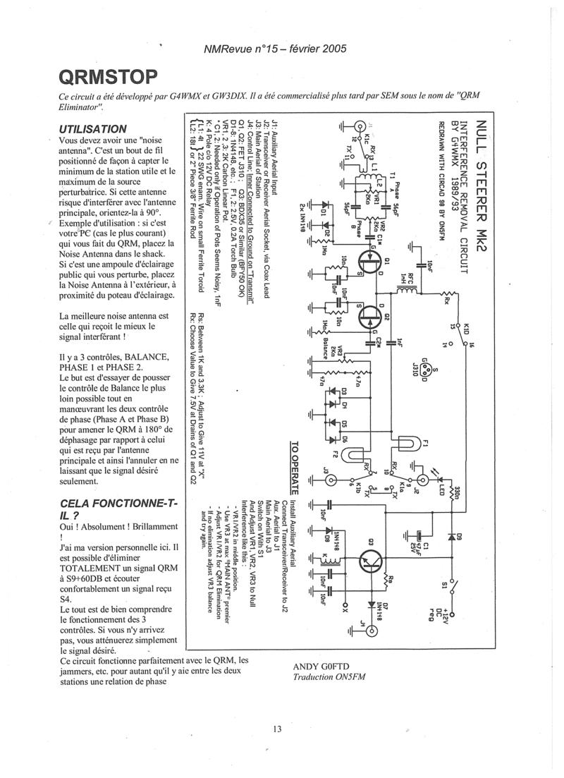 Filtre - Wimo QRM-éliminator (Filtre anti QRMs) Nmrevu10