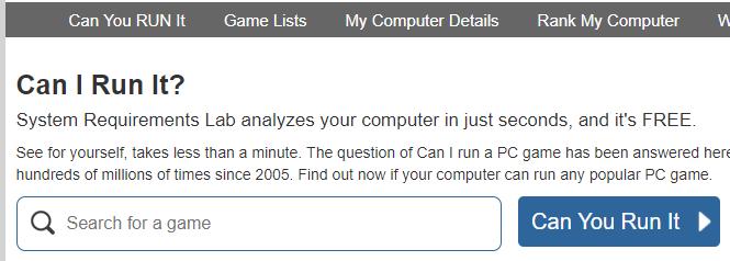 Can You Run It | ¿Puede tu PC correr X Juego? Canyou10