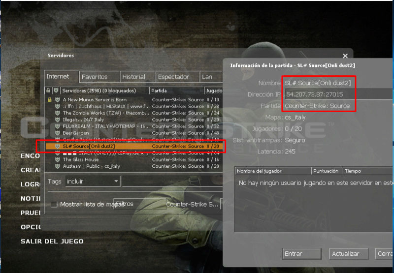 Counter Strike source para ServerLove# Source10
